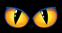"21"" x 11"" Animated Spooky Lighted LED Cat Eyes Halloween Prop"