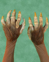 Beast Animal Creature Gloves Monster Claws Hairy Arms Hands Halloween Costume Accessories