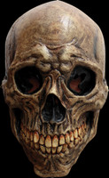 Ancient Decayed Bone Skull Detailed Halloween Costume Mask