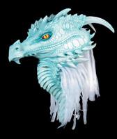 Premiere Ancient Pale Blue Arctic Dragon Halloween Costume Mask