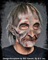 Exhumed Zombie Dead Creepy Super Soft Moving Mouth Halloween Costume Mask