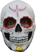 Cartrina Sugar Skull Female Very Detailed Halloween Costume Latex Full Overhead Mask