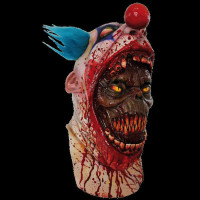 Coulrophobia Bloody Gory Clown Skin on Serial Killer Halloween Costume Mask