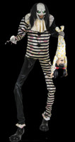 7' tall life Size Animated Killer Clown holding Screaming Child Halloween Prop