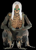 Life Size Animated Crouching Bones Skeleton Corpse Halloween Prop Decoration