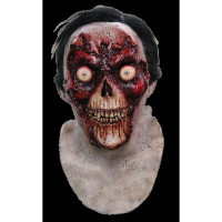 Face Off Zombie Exposed Skull Undead Bloody Gore Gory Halloween Costume Mask