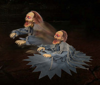Animated Lunging Zombie Reaper Groundbreaker Corpse Halloween Prop Decoration