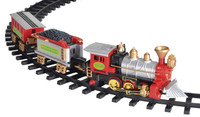 Large Holiday Railway Christmas Tree Train Set Track Smoking Sound Light Decor