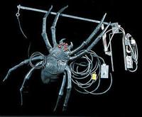 Huge Animated Attack Hanging Spider Halloween Prop