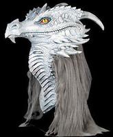 Premiere Gray Ancient Dragon Halloween Costume Mask