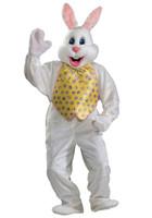 XL Plush Adult Deluxe Easter Bunny Rabbit Mascot Mask & Costume Vest & Tie