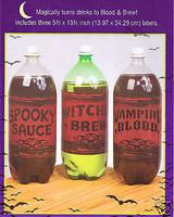Liter Bottle Label Stickers Halloween Prop Decoration