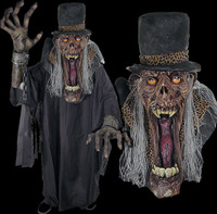 Huge Extreme Adult Shady Slim Zombie Halloween Costume Mask Creature Reacher