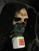 Hooded Toxic Biohazard Survivor Halloween Costume Mask
