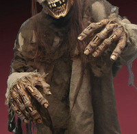 Flesh Eater Zombie Gore Hands Gloves Arms Latex Halloween Costume Accessory