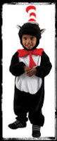 Deluxe Infant 12-18 Mos. Dr Seuss Cat In The Hat Halloween Complete Costume Suit