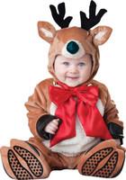 Deluxe Santas Reindeer Rascal Santa Claus Rudolph Christmas Infant Costume Suit