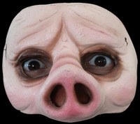 Comfortable Realistic Pig Face Piggy Latex Halloween Costume Half Mask