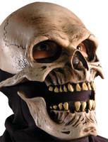 Bone Skull Moving Mouth Death Reaper Skeleton Halloween Costume Mask