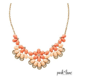 Necklace with Filigree & Two Tone Faceted Florals on Curb Link Chain
