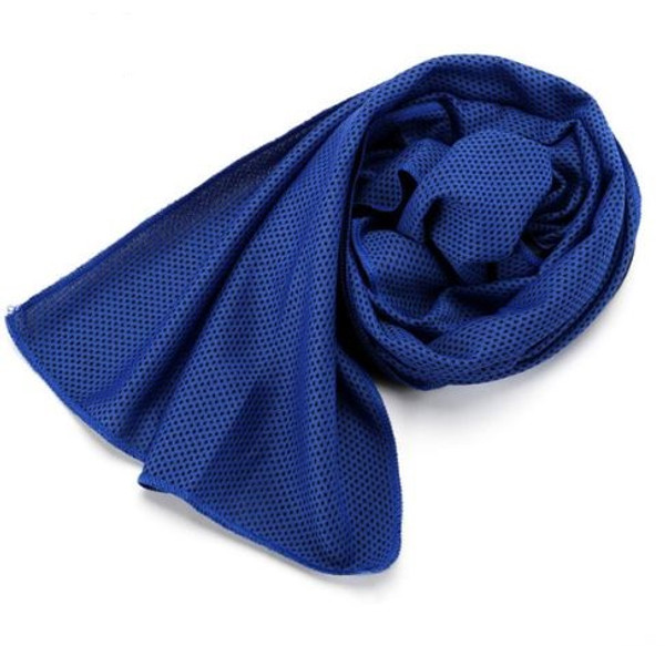 Woven Microfibre Navy Blue Quick Cooling Sports Towel 1
