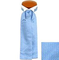 Formal 100% Woven Silk Ascot - Light Blue