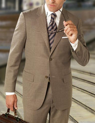 Baroni Couture 2-Button Super 150's Birds Eye Wool Suit
