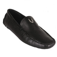 Vestigium Calf Leather Moc Driver Loafer - Black