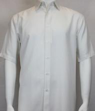 Sangi Modal Blend Short Sleeve Camp Shirt - Geometric Weave