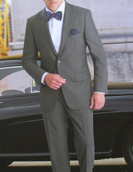 Baroni Couture 2-Button Super 150's Wool Melangé Weave Suit