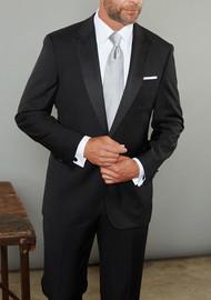 Baroni Couture 1-Button Super 150's Wool Peak Lapel Tuxedo