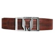 Vestigium Genuine Leather Dress Belt - Walnut