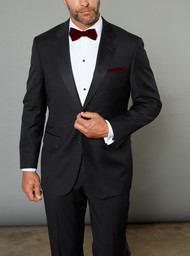 Baroni Couture 2-Button Notch Lapel Super 150's Wool Tuxedo