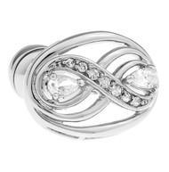 Clear Diamond Crystal Cufflinks (V-CF-C40421C)