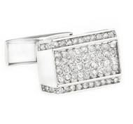 Clear Diamond Crystal Cufflinks (V-CF-C51317C-S)