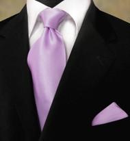 Antonio Ricci 100% Satin Silk Tie - Lilac