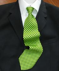 Emilio Romano 100% Silk Italian-made Necktie - Diamonds on Green