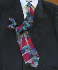 Gianni Vasari 100% Printed Silk Tie - Abstract Design
