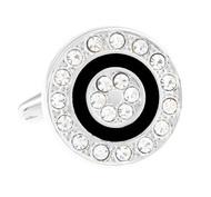 Diamond Crystal Circle Cufflinks (V-CF-61360)