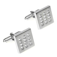 Diamond Crystal in a Square Cufflinks (V-CF-C5870C)