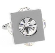 Diamond Cubed Crystal Cufflinks (V-CF-C61030C-S)