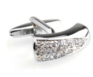 Diamond Swarovski® Crystal Arch Cufflinks (V-CF-C525C)