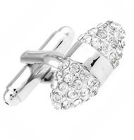 Diamond Swarovski® Crystal Prolate Spheroid Cufflinks (V-CF-C608C-S)
