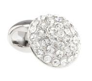 Diamond Swarovski® Crystal Round Dome Cufflinks (V-CF-C51179C-S)