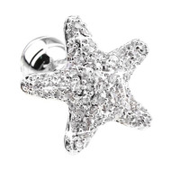 Diamond Swarovski® Crystal Starfish Cufflinks (V-CF-C1500C-S)