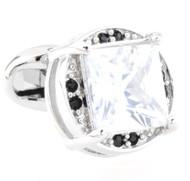 Large Diamond Center Swarovski® Crystal Cufflinks (V-CF-C52785-C)