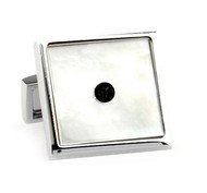 Mother of Pearl with Center Crystal Cufflinks (V-CF-G50618)