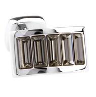 Smoke-Colored Swarovski® Crystal Arch Cufflinks (V-CF-C900SM)