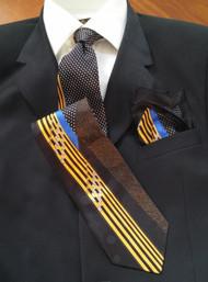 Garington Collection 100% Silk Tie with Pocket Square - Art Design