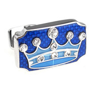 Blue Prince Crown Swarovski® Crystal Cufflinks (V-CF-C809BL)